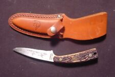 Vintage Schrade+ USA Ducks Unlimited Uncle Henry 154UH Stagalon Handle Sheath