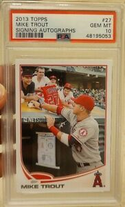 Mike Trout 2013 Topps SP Signing Autographs PSA 10
