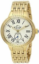 GV2 by Gevril Women's 9101 Astor Diamonds Limited Edition Gold IP Steel Watch
