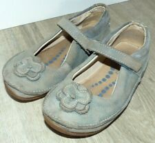 Youth Girl's Size 10F 10 Narrow Clarks Active Air Gray Leather Mary Jane Shoes