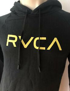 RVCA Mens Pullover FLEECE Hoodie Jumper Jacket Black Size M L XL XXL
