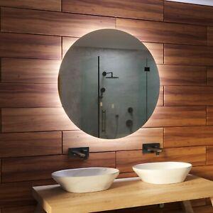 BADSPIEGEL mit LED BELEUCHTUNG Wandspiegel RUND SPIEGEL Badezimmerspiegel MALMO