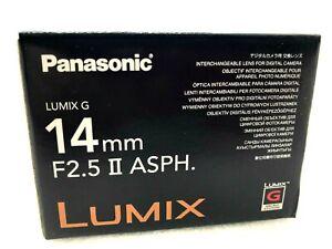 New Panasonic LUMIX G 14mm f/2.5 ASPH II Lens - BLACK (H-H014A)