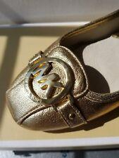 MICHAEL KORS FULTON MOC PALE GOLD MK LOGO Moccasins Flats 6 9 9.5 I LOVE SHOES