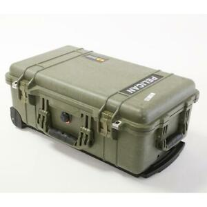 Pelican 1510 Carry-On Case without Foam, Olive Drab Green