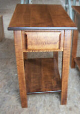 AMISH MADE TIGER WOOD SOLID MAPLE END TABLE NEW CUSTOM