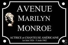 CINÉMA RÉPLIQUE PLAQUE de RUE Marilyn MONROE 30X20 ALU