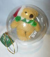 CHRISTMAS TREE ORNAMENT NEW STUFFED TEDDY BEAR CHILDRENS TOY santa claus hat
