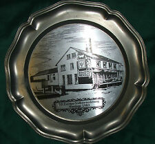 Vintage plate Vintage Pewter Plate WENINGS 1983 Lovely collector's plate
