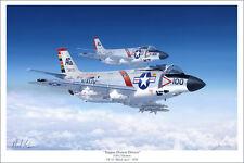 "F3H Demon Aviation Art Print - 16"" x 24"""