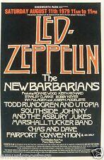 LED ZEPPELIN/NEW BARBARIANS/TODD RUNDGREN 1979 KNEBWORTH, UK CONCERT TOUR POSTER