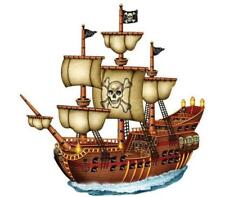 15 PIRATE SHIP EDIBLE PREMIUM ICING CUPCAKE DECORATION CAKE IMAGES TOPPERS