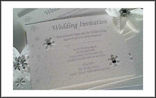 PERSONALISED WINTER WEDDING or EVENING INVITATIONS x10 SNOWFLAKE DESIGN
