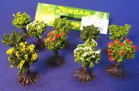 10-STÜCK Jordan Büsche blühend 1,5 cm hoch für H0    9B
