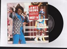 "JAMES BROWN "" LIVING IN AMERICA  "" THEME FROM ""ROCKY 4"" 45 TOUR  7 '' 1985 BOF"