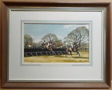 Pendle Forest & Craven Point to Point Watercolour listed artist Terry Logan 1980