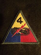 "US Army 4th Fourth Armored Division ""Breakthrough"" SSI Shoulder Sleeve Patch VG"
