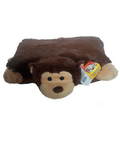 SOFT FURRY PET AND TRAVEL PILLOW-IN-ONE CUDDLE PET ANIMAL PILLOW  MONKEY 18×16