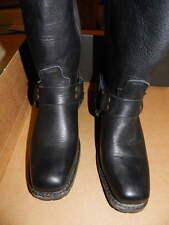 Women's Vintage Shoe CO. Black Gretchen Harness Motorcycle BOOT Great 8.5 Narrow