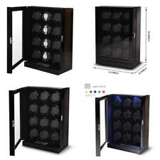 Olymbros Wooden Automatic Watch Winder Storage Box With Lcd Touch Screen