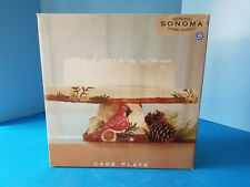 Home Goods Vintage Collectible Cardinal Bird Cake Plate Stand Genuine Sonoma