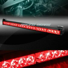 "27"" LED RED TRAFFIC ADVISOR EMERGENCY WARNING FLASH STROBE LIGHT BAR UNIVERSAL 5"