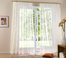 1 Gardine  Vorhang Höhe 145cm  breite  300cm  Store weiss  Blumenfensterstore