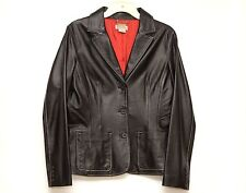 Michael Kors Womens Black Leather Jacket Size 8