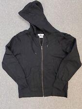 American Giant Plain Black Zip Hoodie - Heavy Cotton - Black - Size Large
