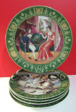 Limoges Josephine and Napoleon Lot of 5 Plates with Coa's