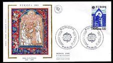 FRANCE FDC - 2366 1 EUROPA - PARIS 27 Avril 1985 - LUXE sur soie