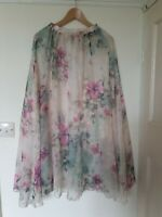 Floral Floaty Lined Hippie Skirt Size S 8 10