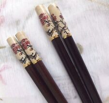 JAPANESE CHOPSTICKS HAIR STICK CREAM PLUM BLOSSOM PARTY CHINESE DINNER FANCY