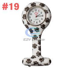 Silicone Nurse Watch Brooch Tunic Fob Nursing Nurses Pendant Clip Quartz #19