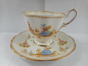 ROYAL ALBERT DAINTY DINAH TEA CUP & SAUCER