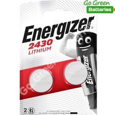 2 x Energizer CR2430 3V Lithium Coin Cell Battery Expiry 2029 K2430L ECR2430 NEW