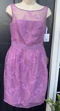 NWT Davids Bridal Formal Dress Size 4 Lavender Lace Beautiful Mother Bride N@159