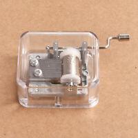 Mini Note Mechanical Hand Cranking DIY Music Box Movement Decor Collectible New