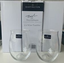 2 x Dartington Crystal Tony Laithwaite Signature Series Wine Tumblers Wine Glass