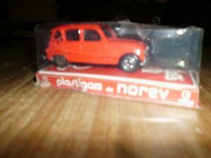 ROSSO RENAULT R 4 BERLINA COD. 353 PLASTIGAM BY NOREV 1/43 ANNI 70 IN SCATOLA