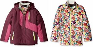 Spyder Girls Reckon 3-In-1 Jacket, Ski Snowboarding Jacket, Size S (8 Kids), NWT
