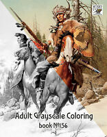 Adult Coloring Book (24 pages) American Amazing Landscapes  FLONZ grayscale 0160
