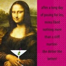 Mona Martini Beverage Dessert Napkins 16pcs Party Supplies