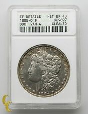 1888-O Morgan Silver Dollar $1 HOT LIPS Double Die Obverse ANACS Net EF 40 VAM-4