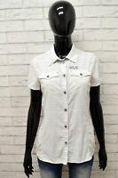 Camicia Donna JACK WOLFSKIN Taglia Size S Maglia Blusa Shirt Cotone Manica Corta