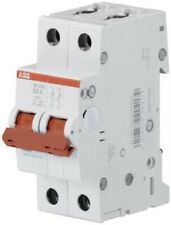 ABB SD202 SERIES SWITCH DISCONNECTOR 2-Poles 63A DIN Rail Mount, Screw Terminal