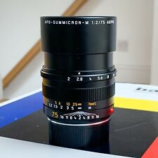 Leica APO-Summicron-M 75mm f/2 11637 ASPH Lens - Absolutely Mint Used Twice