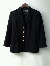 ESCADA Margaretha Ley Blazer Jacket Pure New Wool Black Engraved Button  Sz 38