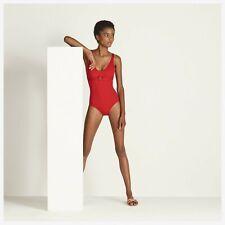 HERMES Paris Swimsuit MAILLOT DE BAIN 'MOJO' in ROUGE - Size Euro 38 - BNWT