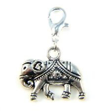 Clip On Charm Charms Silver Elephant Lobster Claw For Bracelets Key Rings Bags